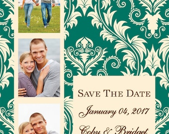 Beautiful Photobooth Save the Date Postcards