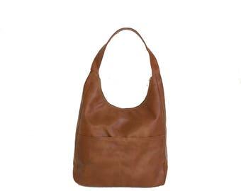 Women Brown Leather Bag Purse Handmade Fashion Shoulder Handbag coco