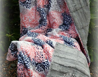 Weighted Blanket, Adult Blanket, Twin Size, Autism Blanket, Sensory Blanket, Weighted Blankets, Minky Weighted Blanket