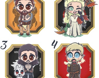 GAME OF THRONES chibi stickers and/or prints - Good side