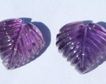 One Piece Heart Shaped Amethyst Carving, Medium Purple, Clean, 12.5, 11, 10mm,