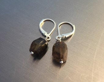 Dichroic Andalusite Nugget Earrings