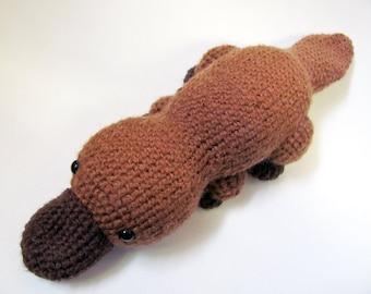 Crochet PATTERN PDF - Amigurumi Platypus - cute crochet amigurumi pattern, crochet animal platypus pattern, amigurumi toy, platypus softie