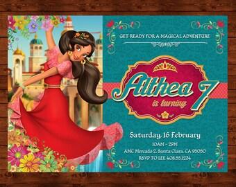 Elena of Avalor Birthday Invitation, Elena Printable, Elena of Avalor Invite, Disney Princess Party, Princess Elena Party, Princess Theme