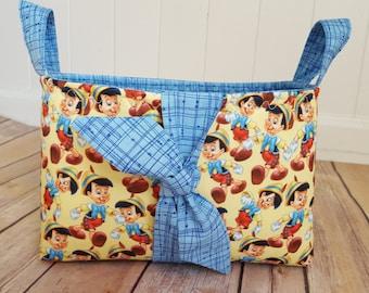 Fabric storage basket, mickey mouse fabric basket, Mickey mouse nursery, Disney fabric basket, Disney Teacher gift, Explorer basket