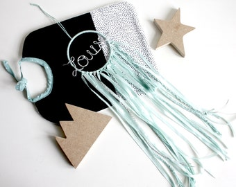 To order small Dreamcatcher monochrome with name in wire