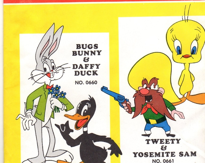 Vintage 1970's Tweety & Yosemite Sam tri-chem Transfer Patterns No. 0661
