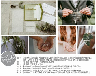 Wedding Stationery Package - Acrylic wedding stationery package