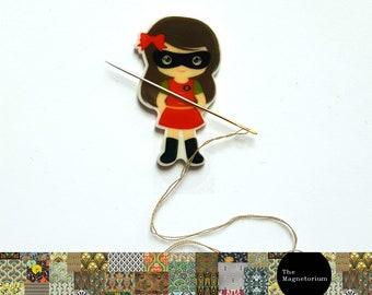 Superheroine / Superhero Needle Minder / Needle Keeper - Choose from five designs