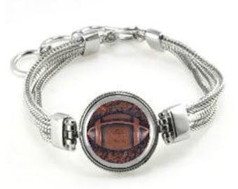 Football Bracelet - Football Jewelry - Football - Football Gift