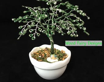 Custom Handmade Beaded Wire Trees, Wire Tree Sculpture for Home & Living, Metal Sculptures, Unique Gifts, Art for the Home, Birthday Gift