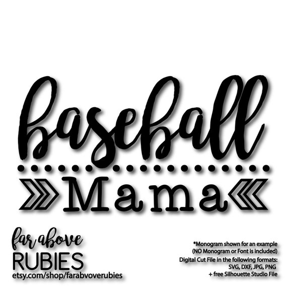Baseball Mama with Dots and Chevron Arrows SVG DXF eps