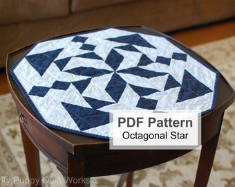 Modern Table Topper Pattern, Easy Minimalist Quilting Project, Quick Modern Quilt Instructions, PDF Sewing Pattern, Beginner Quilt Pattern