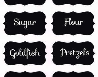 Set of 8 Customized Food Pantry Labels - labels