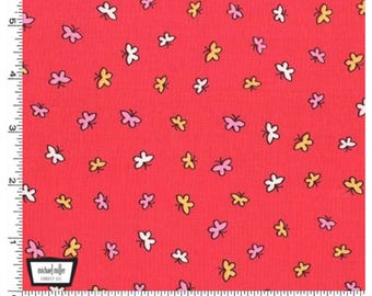 Let's Play - Watermelon Fly Fly Butterfly Cotton Fabric by Michael Miller for Sewing, Dressmaking & Quilting