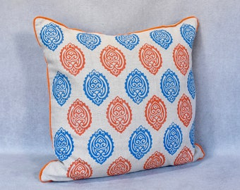 Hand Block Printed Pillow - Raksana
