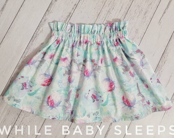 Paperbag Waist Skirt Floral