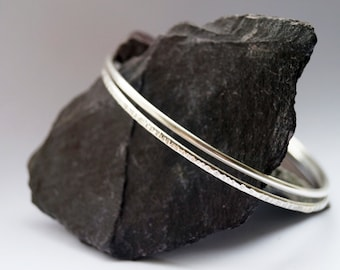 Sterling Silver Bangle Pair ~ simple, modern, stacking, wedding, bridesmaids