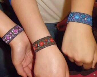 Colorful woven bracelet