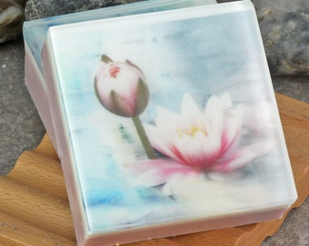 Graphic Art Soap Soft Muted Florals II in a Light Floral Scent