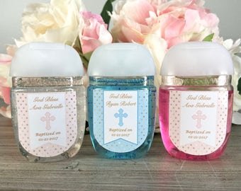 Baptism favor labels, First Communion hand sanitizer labels, Christening hand sanitizer favor labels, Dedication hand sanitizer label