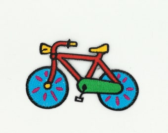 Colorful Bicycle Patch,  Bicycle Patch, Iron On Patches, Embroidered Patch, (#159)