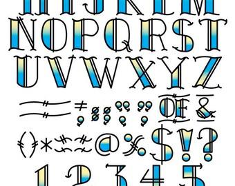 tattoo clip art clipart fonts vector lettering clip art set rh etsy com clip art font in illustrator clip art fonts free
