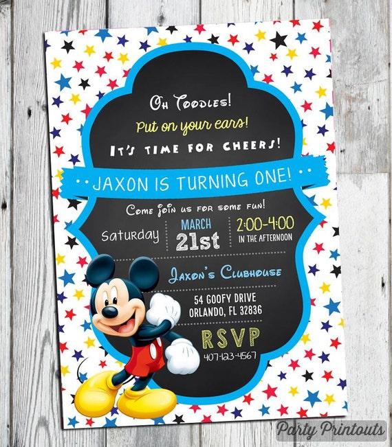 Mickey mouse invitations mickey mouse birthday invitation filmwisefo Gallery
