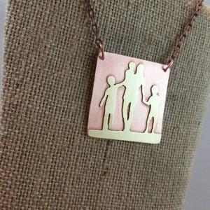 Mama's Boys, Mama's Boy, Mom Jewelry, My Three Sons, All boys, Mother's Jewelry, Mother's Necklace, Copper Jewelry, Metalwork Jewelry