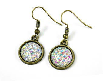 Sparkly Earrings, Boho Dangle Earrings, Druzy Drop Earrings Party Earrings Hostess Earrings Wedding Guest Earrings Handmade Earrings UK Shop