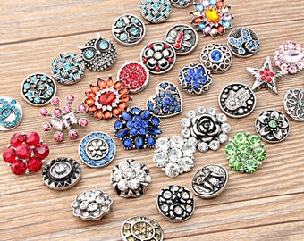 Free Shipping 18mm Rhinestones Ginger Snaps interchangeable snaps for DIY Noosa Chunk necklaces, rings,Jewerly & bracelet