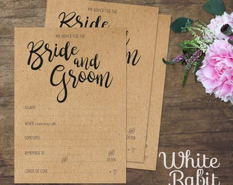 Bride and Groom Advice Cards pack