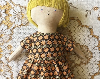 Flora - Handmade Cloth Doll