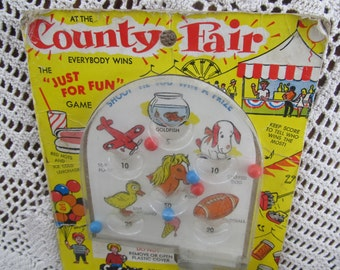1969 Portable Pinball Game Childrens Game County Fair Vintage Children Game County Fair Game Toys 1960s Toys