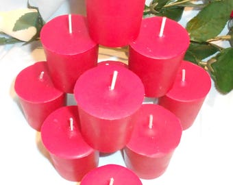 Ten, Christmas Mulberry Scented Wax Votive Candle, Soy, Wedding, Home Decor, Gift, Centerpiece, Shower,