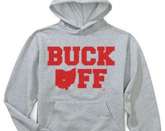 Ohio State Buckeye Buck Off Hooded Sweatshirt NIFTshirts