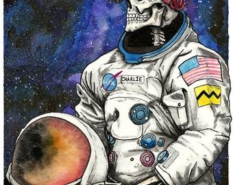 Cosmic Charlie-Grateful Dead Art Print
