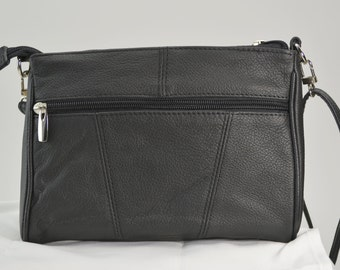 """The """"Cheri"""" Genuine Leather Concealed Minimalist Carry Bag - Auto or Revolver - Wear, Carry or Drop in your Purse or Tote"""