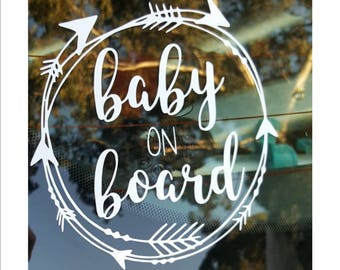 FREE SHIPPING Baby on board decal /Baby on board sticker / Twins on board / Kids on board / Popular car decal / Baby shower gift