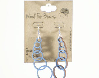 "Laser Cut Wooden Earrings - ""Dangle-Sphere"""