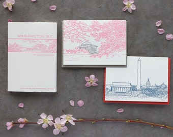Washington D.C. - eight letterpress note cards