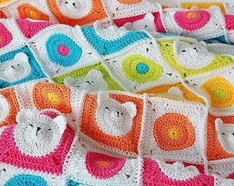 CROCHET PATTERN: Teddy Bear Crochet Baby Blanket Pattern /Teddy bear blanket/Baby Blanket Pattern /Blanket Pattern /Crochet PDF pattern