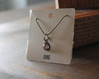June Ball Chain Charm Necklace