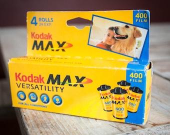 Four Rolls of Expired Kodak Max 400 Color 35mm Film