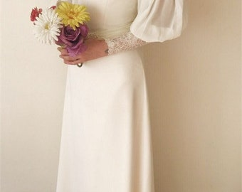 70s Vintage Wedding Dress