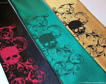 Mens skull necktie design by RokGear