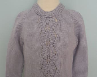 Lace Pullover Hand Knitted Sweater