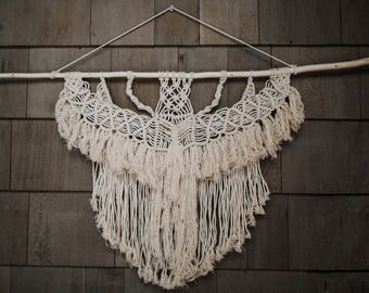 Natural Branch Macrame Wall Hanging