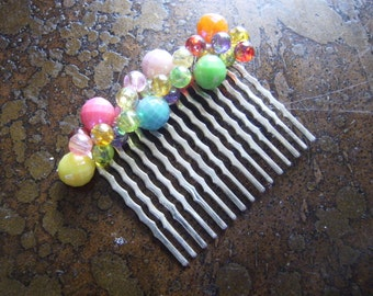 Carnival Explosion Acrylic Wired Wrapped Hair Comb