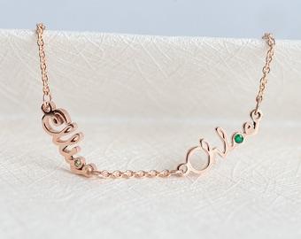 Mother Daughter Bracelet, Mother Daughter Jewelry, Two Name Bracelet, Birthstone Bracelet, August Bracelet, Virgo Bracelet, Taurus Bracelet